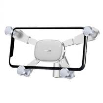 Держатель автомобильный Baseus, Horizontal, для смартфона, пластик, воздуховод, шарнир, цвет: белый