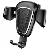 Держатель автомобильный Baseus, SUYL-B01, Gravity, для смартфона, металл, воздуховод, шарнир, цвет: чёрный
