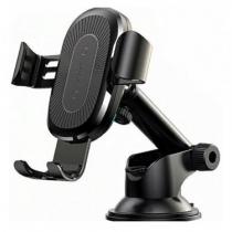 Держатель автомобильный Baseus, WXYL-A01, для смартфона, пластик, торпедо, шарнир, беспроводная зарядка QI, цвет: чёрный