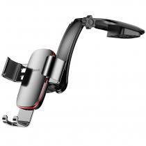 Держатель автомобильный Baseus, Metal Age, для смартфона, металл, торпедо, шарнир, цвет: серый