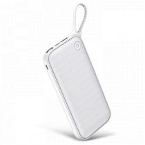 Аккумулятор внешний Baseus, Powerful, 20000mAh, пластик, 2 USB выхода, Type-C, QC3.0, PD, 2.0A, цвет: белый