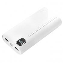 Аккумулятор внешний Joyroom D-M201 Plus, Speed, 20000mAh, пластик, 2 USB выхода, Type-C, дисплей, QC3.0, PD, 2.0A, цвет: белый